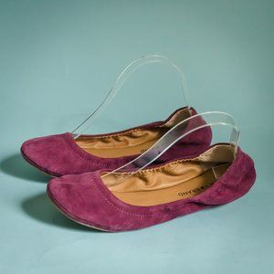 Lucky Brand 9.5 Maroon Suede Emmie Flats